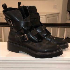 Zara chunky moto boots